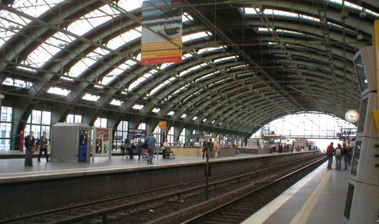 Ostbahnhof – et knudepunkt i Østberlin.